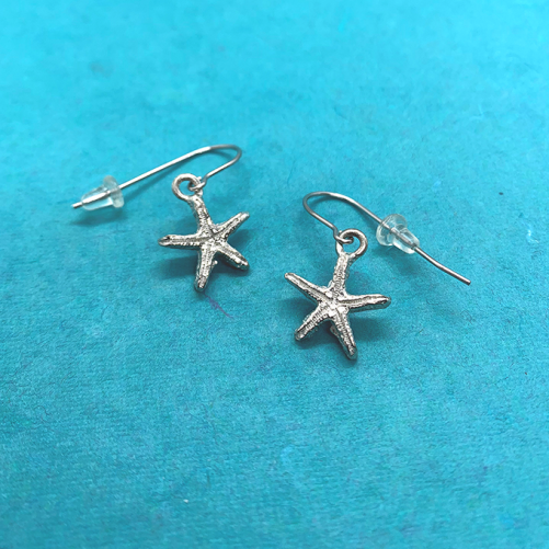 starfish tiny earrings wire