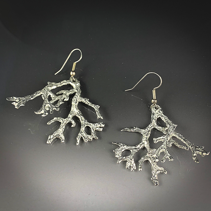 Coral/ Lichen Earrings