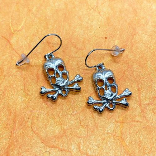 Skull Earrings, wire