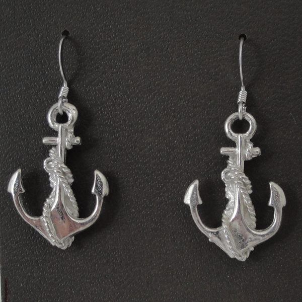 anchor and rope earrings