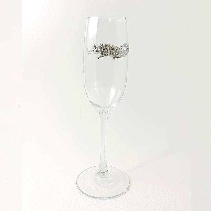 Champagne Flute Alligator