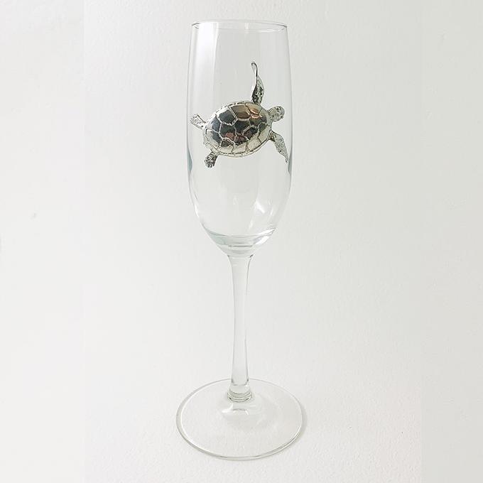 Champagne Flute, Sea Turtle
