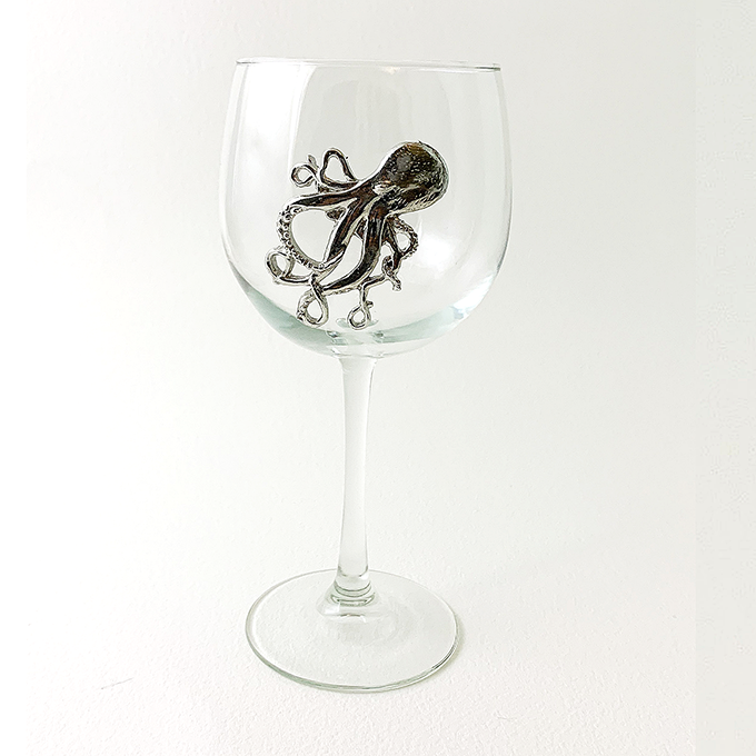 Octopus Red Wine Glass