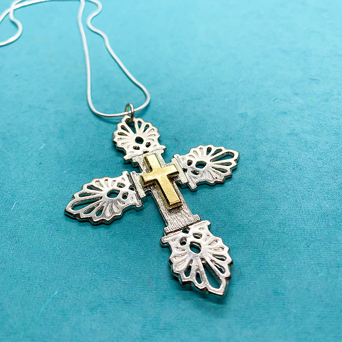 Anthemion Cross Necklace