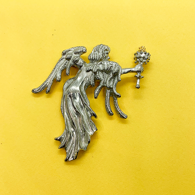 Angel with Torch Pin/ Pendant