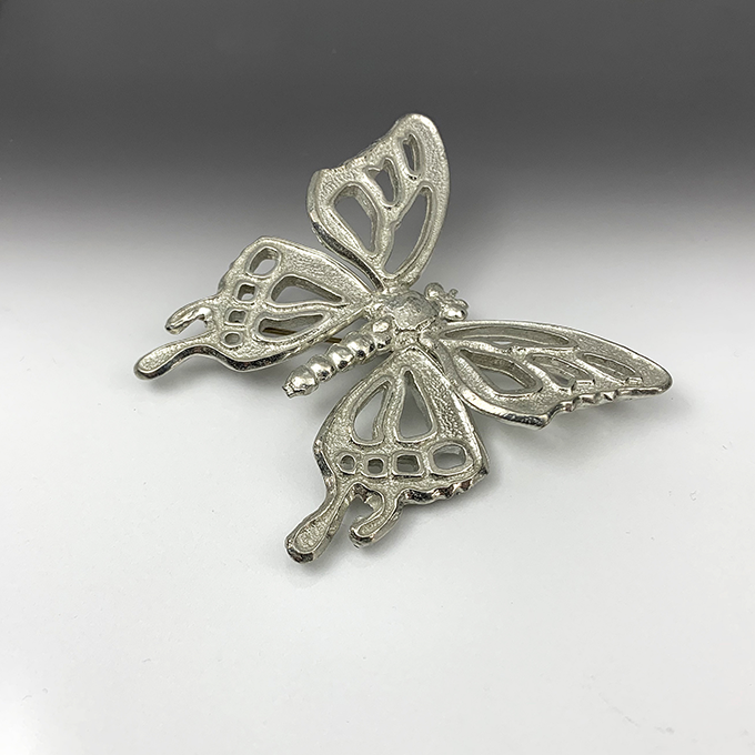 butterfly openwork pin large