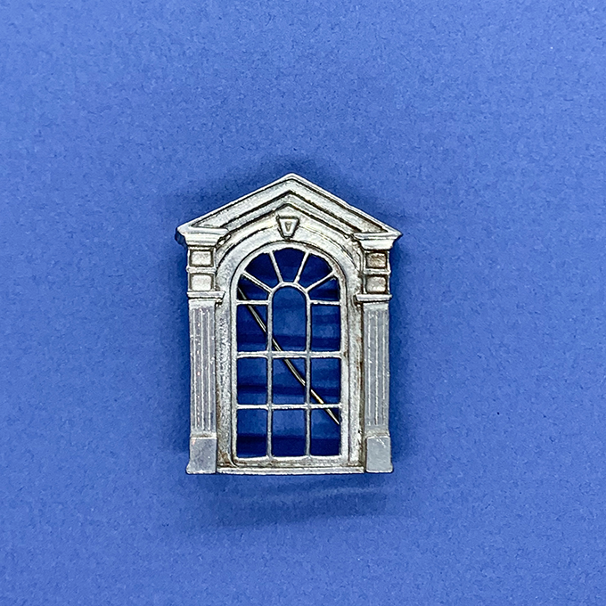 window of French Ouarter Pin