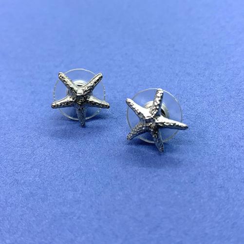 Starfish tiny earrings post