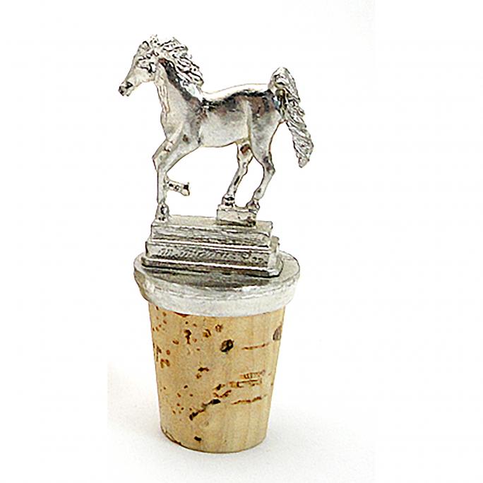 Horse wine cork